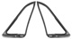 Seal, Windscreen Ventilation window Kit for both sides  (1059603) - Volvo P1800