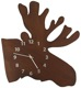Wall clock Elk head  (1059780) - universal