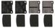 Brake pad set Rear axle System Girling 31261184 (1061436) - Volvo 140, 164, 200, P1800, P1800ES