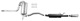 Sports silencer set Stainless steel from Catalytic converter  (1069072) - Volvo 850, S70 V70 (-2000)