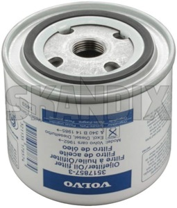 Oil filter Spin-on Filter 3517857 (1000002) - Volvo 120 130 220, 140, 164, 200, 300, 700, 850, 900, C70 (-2005), P1800, P1800ES, PV P210, S40 V40 (-2004), S70 V70 V70XC (-2000), S90 V90 (-1998) - 1800e brick oil filter spin on filter oil filter spinon filter oilfilter p1800e Genuine bulletfilters cartouche cartridges cassette filter filters seal shellfilters single singleuse singleusefilters spinon spin on use with