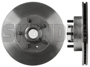 Brake disc Front axle  (1000937) - Volvo 700 - brake disc front axle brake rotor brakerotors brick rotors Own-label 262 262mm axle front hub mm with