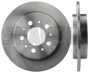 Brake disc Rear axle non vented 1359290 (1000944) - Volvo 700, 900 - brake disc rear axle non vented brake rotor brakerotors brick rotors Own-label ambulance axle for hearse model multilink non not rear solid vehicles vented with