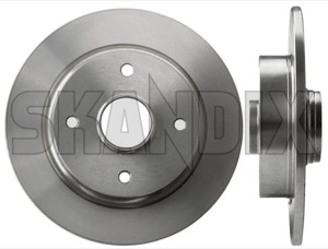 Brake disc Rear axle non vented  (1001291) - Volvo 400 - brake disc rear axle non vented brake rotor brakerotors rotors Own-label abs axle for hub non rear solid vehicles vented with