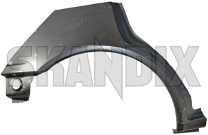 Repair panel, Wheel arch rear right  (1002169) - Volvo 400 - body parts body repair fender panel repair panel wheel arch rear right repair sheet metal repairpanel rustparts table sheet tablesheet wing Own-label rear right