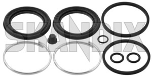 Repair kit, Brake caliper boot Front axle for one Brake caliper 8993255 (1002976) - Saab 90, 900 (-1993), 99 - repair kit brake caliper boot front axle for one brake caliper Own-label axle bleeder brake caliper caps caps caps  circlip dust for front lock locking one piston ratainer ring rings screw seals securing snap with