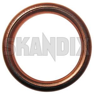 Seal ring, Oil drain plug 3121867 (1003740) - Volvo 300, 400, S40 V40 (-2004) - gasket seal ring oil drain plug Own-label drain engine oil plug plug  seal transmission