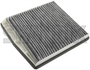 Cabin air filter Activated Carbon 30630754 (1006088) - Volvo S60 (-2009), S80 (-2006), V70 P26, XC70 (2001-2007), XC90 (-2014) - airfilter cabin air filter activated carbon cabin filter cabinfilter interior air filter skandix 38 38mm activated carbon drive filtre for hand left lefthand left hand lefthanddrive lhd mm multi multifilter vehicles