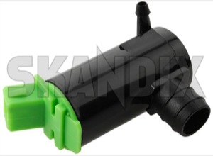 Wiper Washer Pump Motor 9169611 (1007215) - Volvo C70 (-2005), S40 V40 (-2004), S60 (-2009), S70 V70 (-2000), S80 (-2006), V70 P26, V70 XC (-2000), XC70 (2001-2007), XC90 (-2014) - water pump cleaning water system water pump  cleaning water system window washer pump wiper washer pump motor Own-label cleaning for gasketseal gasket seal rear window windscreen without