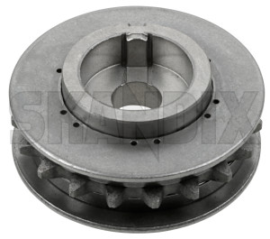 Chain gear, Balancer shaft outlet side 55557384 (1009340) - Saab 9-3 (-2003), 9-5 (-2010), 900 (1994-), 9000 - chain gear balancer shaft outlet side Own-label outlet side