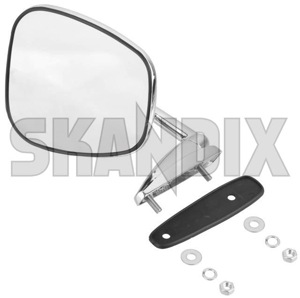Outside mirror fits left and right 276614 (1013165) - Volvo 120 130 220, 140, 164, P1800, P1800ES, PV - 1800e outside mirror fits left and right p1800e Genuine 65 65mm and chromed fits left mm right