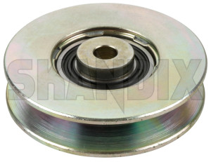 Guide pulley, V-belt 1271353 (1015456) - Volvo 700, 900