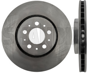 Brake disc Front axle 9475266 (1019975) - Volvo S60 (-2009), S80 (-2006), V70 P26, XC70 (2001-2007) - brake disc front axle brake rotor brakerotors rotors Own-label 17 17inch 320 320mm axle front inch mm