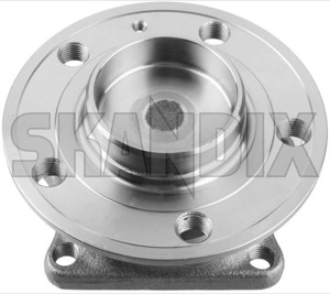Wheel bearing Rear axle fits left and right 9173872 (1020277) - Volvo S60 (-2009), S80 (-2006), V70 P26 - wheel bearing rear axle fits left and right Own-label and awd axle fits left rear right screws without