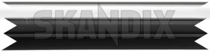 Trim moulding, Fender front right 1246628 (1020517) - Volvo 200 - brick molding moulding trim moulding fender front right wing Genuine 30 30mm chromeblack chrome black clip front mm right with