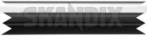 Trim moulding, Fender front left 1246627 (1020519) - Volvo 200 - brick molding moulding trim moulding fender front left wing Genuine 30 30mm chromeblack chrome black clip front left mm with