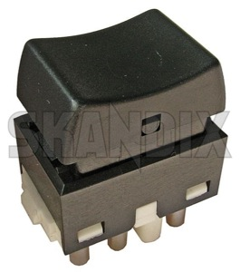 Switch, Window winder 1347063 (1022242) - Volvo 400, 700, 850, 900 - brick switch window winder window lifter window regulator windowlifter windowregulator windowwinder Own-label 5 5terminal door door  drivers driver s front illumination passenger rear side terminal without