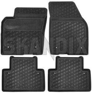 Floor Accessory Mats Rubber Black Grey 39807167 1026110 Volvo S40 V50