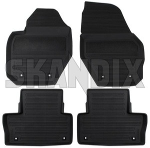 Floor accessory mats Rubber black (offblack) 39822905 (1026389) - Volvo XC60 (-2017) - floor accessory mats rubber black offblack floor accessory mats rubber black offblack  Genuine offblack  offblack  black bowl drive for grommets hand left lefthand left hand lefthanddrive lhd mat round rubber vehicles