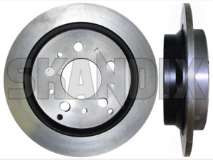 Brake disc Rear axle non vented  (1026626) - Volvo 900 - brake disc rear axle non vented brake rotor brakerotors brick rotors Own-label ambulance axle for funeral funeralcar hearse model multilink non rear solid vehicle vehicles vented with
