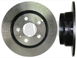 Brake disc Rear axle non vented  (1027095) - Volvo 900 - brake disc rear axle non vented brake rotor brakerotors brick rotors Own-label ambulance axle for funeral funeralcar hearse model non rear rigid solid special vehicle vehicles vented with