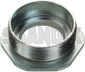 Nut, Mount Shock absorber Front axle Union Nut 4243390 (1027281) - Saab 9-3 (-2003), 900 (1994-) - nut mount shock absorber front axle union nut Genuine axle front nut union