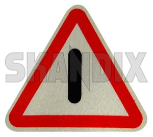 Adhesive foil Door Warning triangle  (1029550) - Volvo 120 130 220, 140, 164, 200, 700, P1800, PV