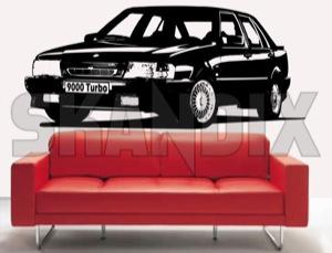 Wandtattoo Saab 9000  (1033734) - Saab 9000 - 9000 aufkleber folienkleber folienschnitt klebefolie motivfolie raumdekoration tattoo wanddekoration wandtattoo saab 9000 Hausmarke 1100 1100mm 580 580mm 9000 mm saab