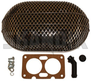 Performance Air filter oval Multi-stage carburettor Weber 36/36 DCD  (1037494) - Volvo 120 130 220, 140, P1800, PV P210 - 1800e airfilters p1800e performance air filter oval multi stage carburettor weber 36 36 dcd performance air filter oval multistage carburettor weber 3636 dcd sports weber 36/36 3636 36 36 bulletfilters carburetor carburettor cartouche cartridges cassette dcd filter filters multistage multi stage oval shellfilters single singleuse singleusefilters spinon spin on use weber