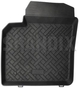 Floor accessory mat, single front left  (1037735) - Volvo C30, C70 (2006-), S40 V50 (2004-), XC90 (-2014) - floor accessory mat single front left rensi bowl front grommets left mat no