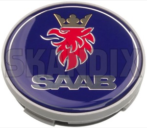 Wheel Center Cap grey blue for Genuine Light alloy rims Piece 12775052 (1038663) - Saab 9-3 (2003-), 9-5 (-2010) - caps centercaps covers hub caps hubcaps hubcovers hubs middle rim trim wheel caps wheel center cap grey blue for genuine light alloy rims piece wheel cover wheel trim Genuine saab  saab  63 63mm alloy blue for genuine grey light material mm piece plastic rims synthetic