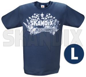 T-Shirt SKANDIX Logo Racing L  (1039656) - universal  - hemden shirts t shirt skandix logo racing l tshirt skandix logo racing l Hausmarke 1/2 12 1 2 aermellaenge bedruckt blau blauer l logo racing rundhals skandix