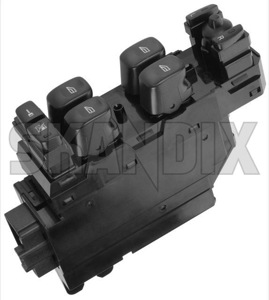 Switch, Window winder 30658146 (1043328) - Volvo S60 (-2009), S80 (-2006), V70 P26, XC70 (2001-2007), XC90 (-2014) - switch window winder window lifter window regulator windowlifter windowregulator windowwinder Genuine door door  drivers driver s front side