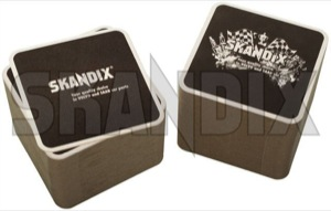 Coaster SKANDIX Logo Racing 100 Pcs  (1046976) - universal  - beer mats coaster skandix logo racing 100 pcs Own-label 100 100pcs 93 93mm black corners logo mm pcs quadratic racing rounded skandix square
