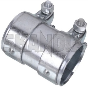 Pipe connector Exhaust system Double cl& 40 mm 80 mm Steel (1047879) -  sc 1 st  SKANDIX & SKANDIX Shop Universal parts: Pipe connector Exhaust system Double ...