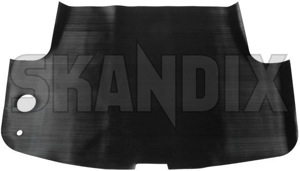 Trunk mat Rubber black  (1052984) - Volvo P1800 - 1800e p1800e trunk mat rubber black skandix black rubber