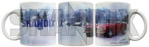 Tasse Volvo P1800  (1053101) - universal  - kaffeebecher kaffeetasse sammeltasse tasse volvo p1800 trinkbecher trinktasse skandix bodenaufdruck einzelkarton inkl inkl  ohne p1800 porzellan sichtfenster volvo