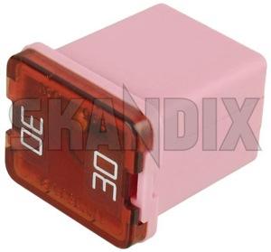Fuse Japan JLP 30 A 30728786 (1053558) - Volvo S60 (2011-2018), S80 (2007-), V40 (2013-), V40 XC, V60 (2011-2018), V70 XC70 (2008-) - ampere automotive fuses fuse japan jlp 30a Own-label 30 30a a japan jlp pink