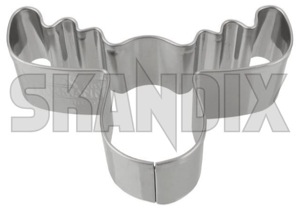 Cookie cutter Elk head Stainless steel  (1055947) - universal  - bakery baking biscuitcutter biscuits christmasbaking christmasbiscuits christmascookies cookie cutter elk head stainless steel cutouts pastries pastry Own-label 65 65mm elk head mm stainless steel