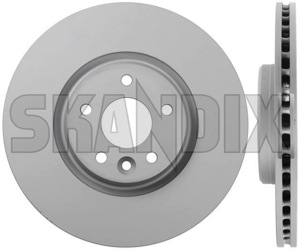 Brake disc Front axle internally vented  (1056029) - Volvo V40 (2013-), V40 XC - brake disc front axle internally vented brake rotor brakerotors rotors zimmermann 16,5 165 16 5 16,5 165inch 16 5inch 320 320mm axle front inch internally mm vented