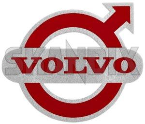 Aufkleber Volvo Logo rot-silber  (1059704) - Volvo universal - aufkleber volvo logo rot silber aufkleber volvo logo rotsilber autoaufkleber funaufkleber fun aufkleber kleber sticker Hausmarke 50 50mm logo mm rot rotsilber rot silber roter rotsilbener silbener silber silberner silberroter volvo
