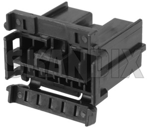Plug housing Blade terminal for original stereo 9130220 (1059790) - Volvo 850, 900, C70 (-2005), S60 (-2009), S70 V70 V70XC (-2000), S80 (-2006), S90 V90 (-1998), V70 P26, XC70 (2001-2007) - brick plug housing blade terminal for original stereo Genuine 10 10terminal audio black blade car for male original radios stereo terminal