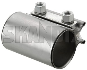Pipe connector, Exhaust system Double clamp 50 mm 90 mm 30742476 (1061030) - Volvo S80 (2007-), V70 XC70 (2008-) - pipe connector exhaust system double clamp 50 mm 90 mm Genuine 50 50mm 90 90mm clamp double mm