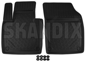 Floor accessory mats Synthetic material black  (1062844) - Volvo XC90 (2016-) - floor accessory mats synthetic material black Own-label black bowl drive for front hand left lefthand left hand lefthanddrive lhd mat material plastic synthetic vehicles