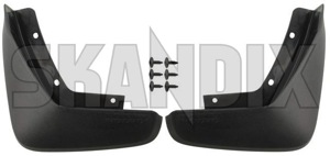 Mud flap front Kit for both sides 31463574 (1062902) - Volvo XC90 (2016-) - mud flap front kit for both sides Genuine addon add on black both drivers for front kit left material passengers right side sides with
