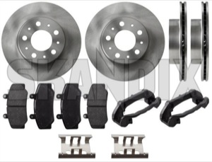 Brake disc Front axle internally vented System Bendix Kit for both sides  (1067179) - Volvo 700 - brake disc front axle internally vented system bendix kit for both sides brake rotor brakerotors brick rotors Own-label 14 14inch 262 262mm abs addon add on axle bendix both brake caliper carrier drivers for front hub inch internally kit left material mm pads passengers right side sides system vehicles vented with without