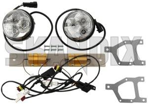 Tagfahrleuchte LED Nachrüstsatz 32020082 (1067933) - Saab 9-3 (2003-) - 93 93 9 3 tagfahrleuchte led nachruestsatz tagfahrlicht Original diode diodenbruecke etypgeprueft e typ geprueft eintragungspflichtig led leuchtdiode nachruestsatz nicht