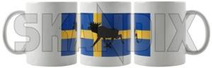 Cup Elk Swedish flag  (1068161) - universal  - cup elk swedish flag Own-label banner elk flag sverige sweden swedish