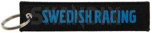 Schlüsselanhänger Jettag Swedish Racing  (1068253) - universal  - anhaenger schluesselanhaenger jettag swedish racing schluesselbundanhaenger Hausmarke 130 130mm 30 30mm blauer jettag mm racing schwarz schwarzblau schwarz blau schwarzblauer stoff swedish textil vlies