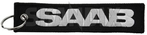 Key fob Jettag SAAB  (1068296) - universal  - key fob jettag saab Own-label 130 130mm 30 30mm blackwhite black white cloth fabric fleece jettag mm saab textile woven
